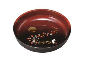 画像1: 8.0 菓子鉢 杢塗分け 春秋月うさぎ