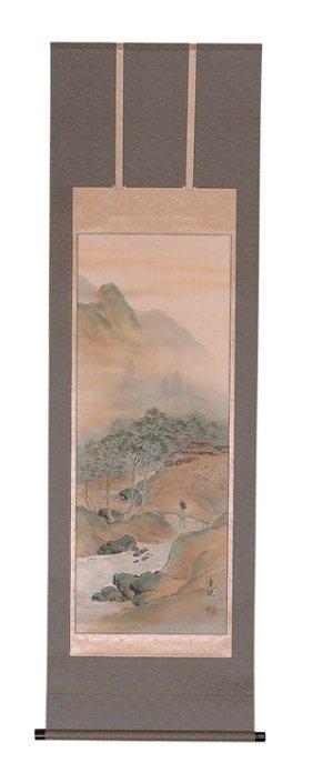画像1:  彩色山水 泉童観筆