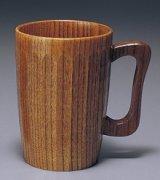 木製 ビールカップ 亀甲