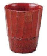 木製 フリーカップ つき彫根来