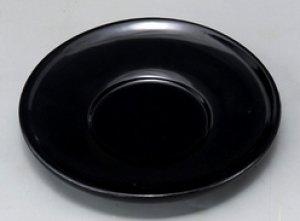 画像1: 木製 4.0 茶托 黒塗ダルマ