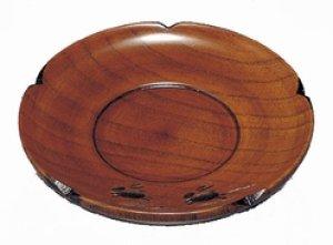 画像1: 木製 4.0 茶托 うさぎ彫