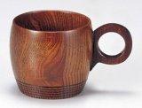 木製 コーヒーカップ ライン 拭漆