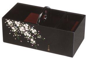 画像1:  木製 リモコンラック 黒 さくら桜